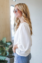 White - Puff Sleeve Blouse from Dress Up