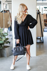 Black - Wrap Dress from Dress Up