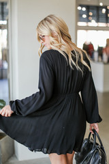 Wrap Dress in Black Back View