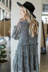 Tiered Leopard Dress Back View