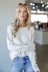 Ivory - Loose Fit Sweater
