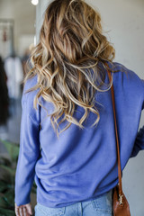 Loose Fit Sweater in Blue Back View