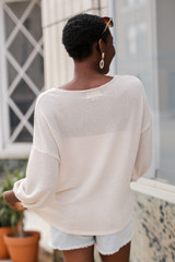 Waffle Knit Top Back View