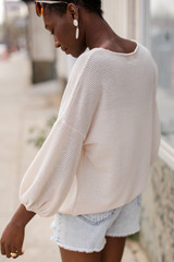 Waffle Knit Top Side View