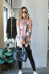 Blush - Oversized Tie-Dye Brushed Knit Top from Dress Up