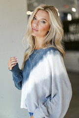 Tie-Dye Cropped Pullover Side View