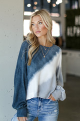 Tie-Dye Cropped Pullover