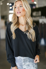 Black - Cropped Pullover from Dress Up
