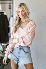 Blush - Dress Up model wearing a Cropped Pullover