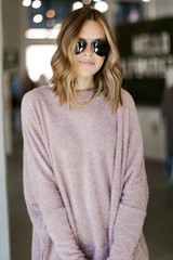 Lavender - Oversized Fuzzy Knit Top from Dress Up