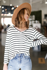 Ivory - Oversized Striped Top from Dress Up