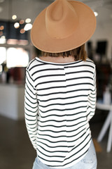 Oversized Striped Top Back View