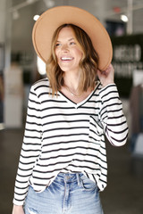 Dress Up model wearing an Oversized Striped Top