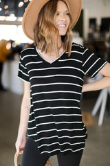 Striped Tee Front View