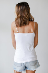 Seamless Everyday Cami Tank in White Back View