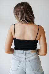 Seamless Everyday Cami Tank in Black in Back View