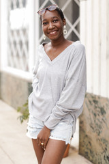 Heather Grey - Oversized Waffle Knit Top from Dress Up