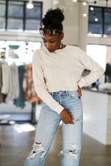 Taupe - Dress Up model wearing an Acid Washed Cropped Tee