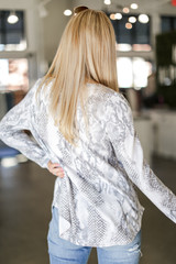 Oversized Snakeskin Top Back View