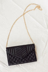 Black - Quilted Crossbody Bag from Dress Up