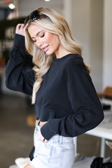 Cropped Pullover Side View