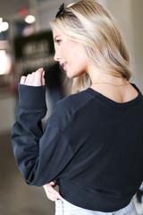 Cropped Pullover Back View