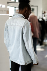 Distressed Denim Jacket from Dress Up back shot