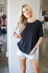 Black - Ultra Soft Basic Tee from Dress Up