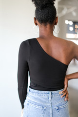 One-Shoulder Top Back View