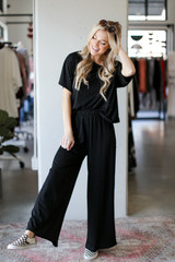 Black - Wide Leg Pants