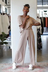 Mocha - Dress Up model wearing Wide Leg Pants
