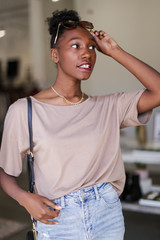 Oversized Top in Mocha Front View