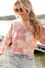 Blush - Tie-Dye Cropped Pullover from Dress Up