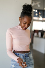 Blush - Mock Neck Crop Top from Dress Up