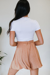Lounge Shorts in Rust Back View