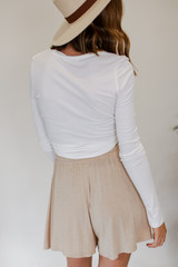 Lounge Shorts in Taupe Back View