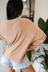 Oversized Top in Rust Back View
