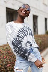 Oversized Tie-Dye Pullover Front View