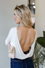 White - Open Back Top Back View