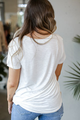Ultra Soft Tee in White Back View