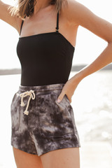 Charcoal - Tie-Dye Lounge Shorts from Dress Up