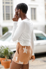 Star Lounge Shorts in Rust Side View