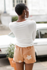 Star Lounge Shorts in Rust Back View