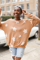 Rust - Oversized Star Pullover from Dress Up