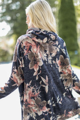 Oversized Floral Knit Top Back View