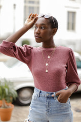 Mauve - Puff Sleeve Top