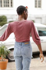 Puff Sleeve Top Back View