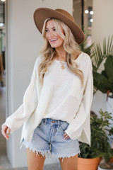 Ivory - Oversized Knit Sweater from Dress Up