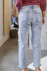 Distressed Boyfriend Jeans Back View