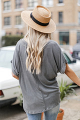 Oversized Ribbed Knit Tee Back View